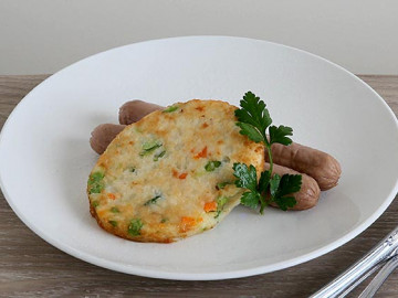 Bubble & Squeak With Sausages
