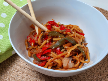 Singapore Noodle Stir Fry (Vegan)